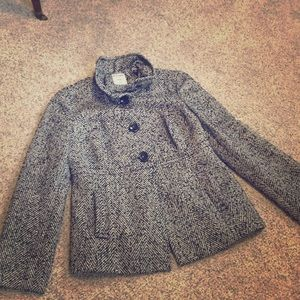 Old Navy classic tweed coat. lined with pockets